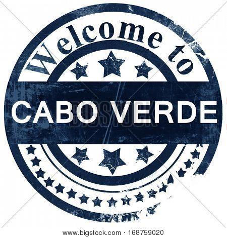 Cabo verde stamp on white background
