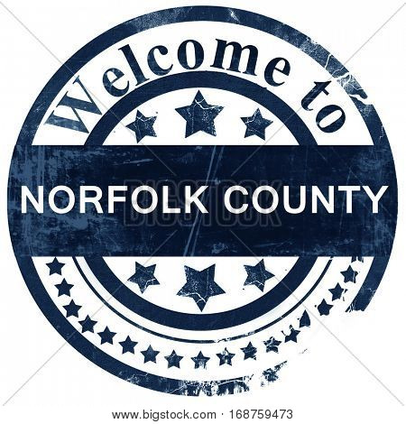 Norfolk county stamp on white background
