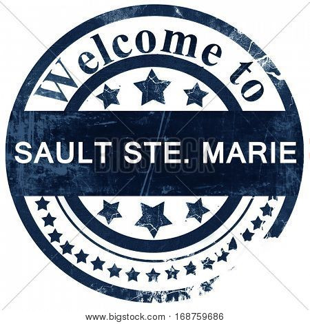Sault ste. marie stamp on white background
