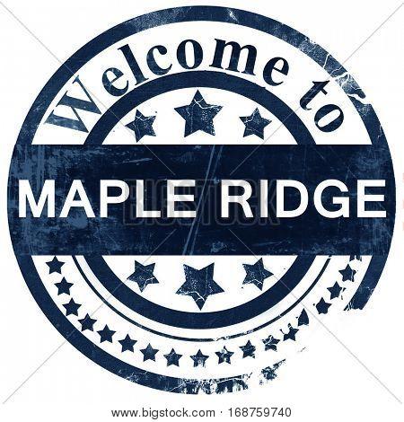 Maple ridge stamp on white background