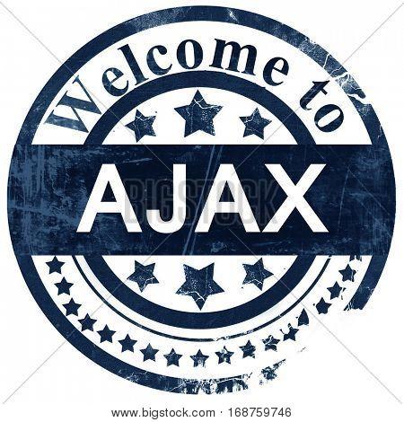 Ajax stamp on white background