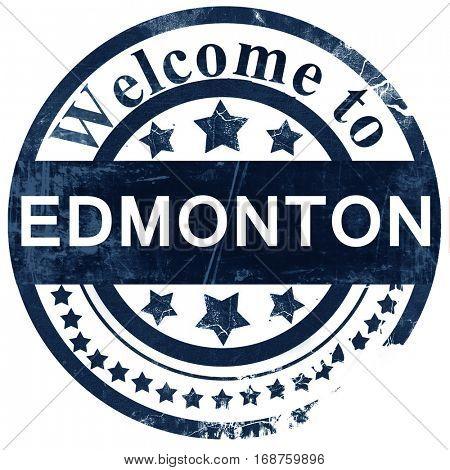 Edmonton stamp on white background