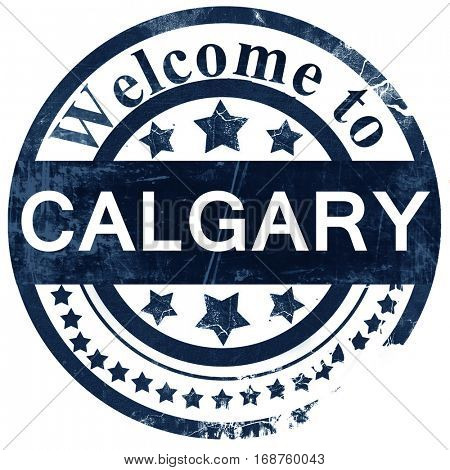 Calgary stamp on white background