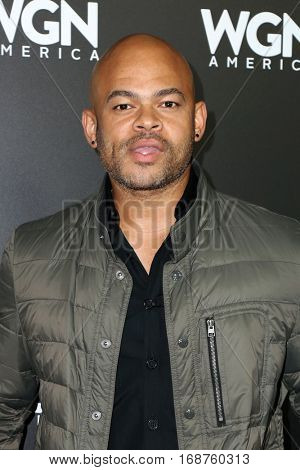 LOS ANGELES - DEC 13:  Anthony Hemingway at the WGN America's