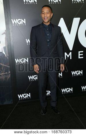 LOS ANGELES - DEC 13:  John Legend at the WGN America's