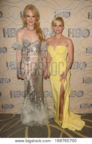 LOS ANGELES - JAN 8:  Nicole Kidman, Reese Witherspoon at the HBO Golden Globes After-Party at Circa 55 at Beverly Hilton Hotel on January 8, 2017 in Beverly Hills, CA