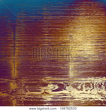 Vintage style shabby texture or background with classy grungy elements and different color patterns: yellow (beige); brown; blue; red (orange); purple (violet); white