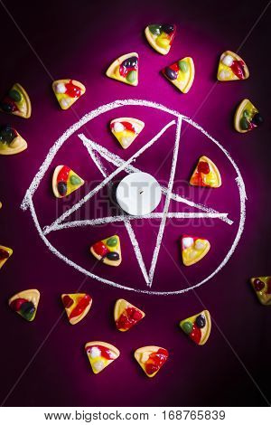 Satanic Symbol Of Pizza Sacrifice