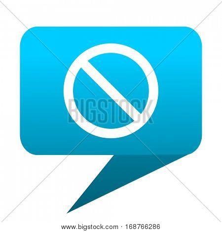 access denied blue bubble icon