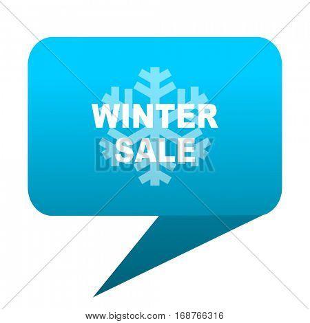 winter sale blue bubble icon