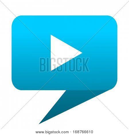 play blue bubble icon