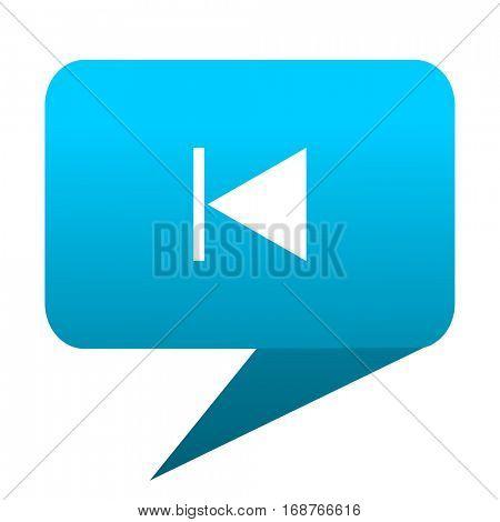 prev blue bubble icon