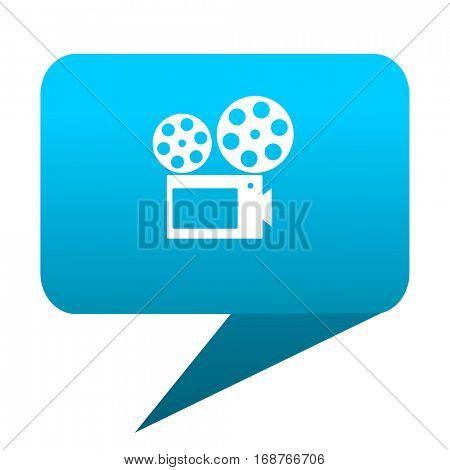 movie blue bubble icon