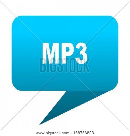 mp3 blue bubble icon
