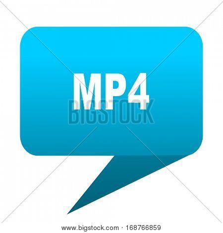 mp4 blue bubble icon