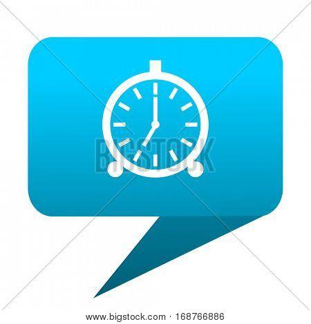 alarm blue bubble icon