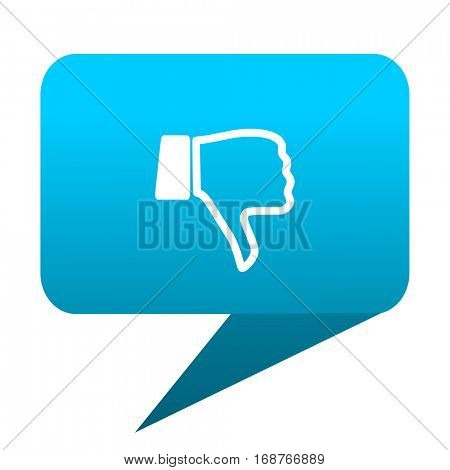 dislike blue bubble icon