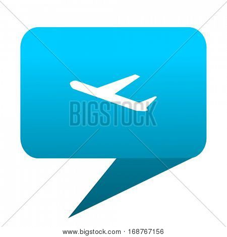 Deparures blue bubble icon