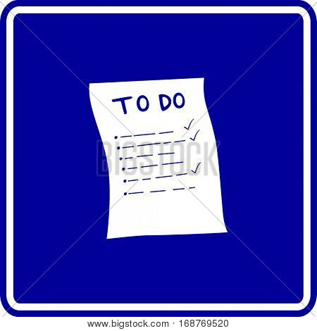 to do list sign