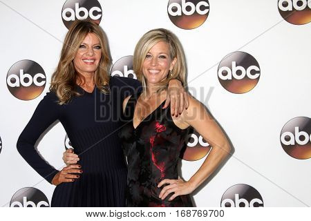LOS ANGELES - JAN 10:  Michelle Stafford, Laura Wright at the Disney/ABC TV TCA Winter 2017 Party at Langham Hotel on January 10, 2017 in Pasadena, CA