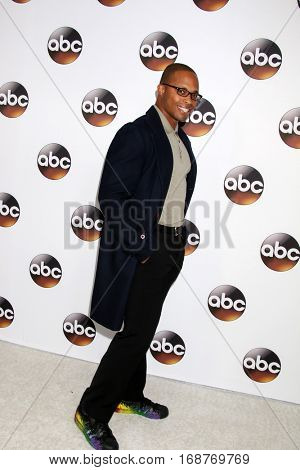LOS ANGELES - JAN 10:  Cournelius Smith Jr at the Disney/ABC TV TCA Winter 2017 Party at Langham Hotel on January 10, 2017 in Pasadena, CA