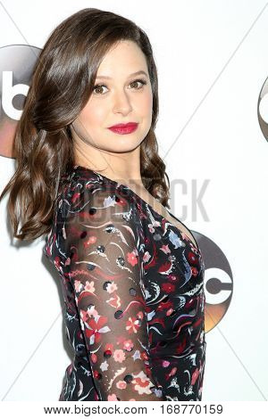 LOS ANGELES - JAN 10:  Katie Lowes at the Disney/ABC TV TCA Winter 2017 Party at Langham Hotel on January 10, 2017 in Pasadena, CA