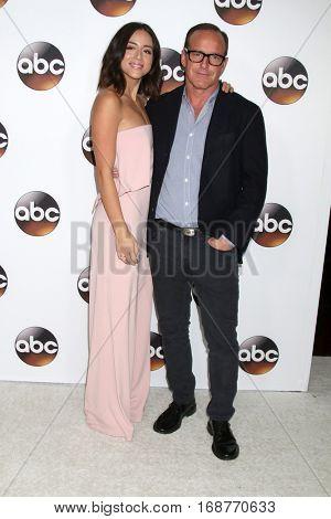 LOS ANGELES - JAN 10:  Chloe Bennet, Clark Gregg at the Disney/ABC TV TCA Winter 2017 Party at Langham Hotel on January 10, 2017 in Pasadena, CA