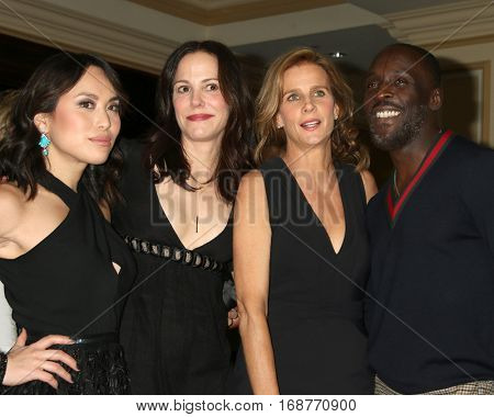 LOS ANGELES - JAN 10:  Ivory Aquino, Mary-Louise Parker, Rachel Griffiths, Michael Kenneth Williams at the Disney/ABC TV TCA Winter 2017 Party at Langham Hotel on January 10, 2017 in Pasadena, CA