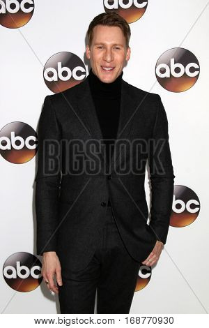 LOS ANGELES - JAN 10:  Dustin Lance Black at the Disney/ABC TV TCA Winter 2017 Party at Langham Hotel on January 10, 2017 in Pasadena, CA