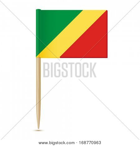Republic of the Congo flag. Flag toothpick on white background 10eps