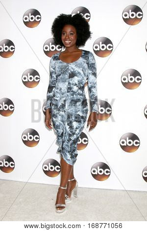 LOS ANGELES - JAN 10:  Kirby Howell-Baptiste at the Disney/ABC TV TCA Winter 2017 Party at Langham Hotel on January 10, 2017 in Pasadena, CA