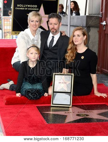 LOS ANGELES - JAN 11:  Kathryn Adams, Aviana Olea Le Gallo, Darren Le Gallo, Amy Adams at the Amy Adams Star Ceremony at Hollywood Walk of Fame on January 11, 2017 in Los Angeles, CA