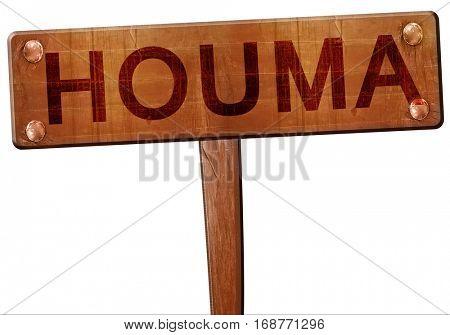 houma road sign, 3D rendering
