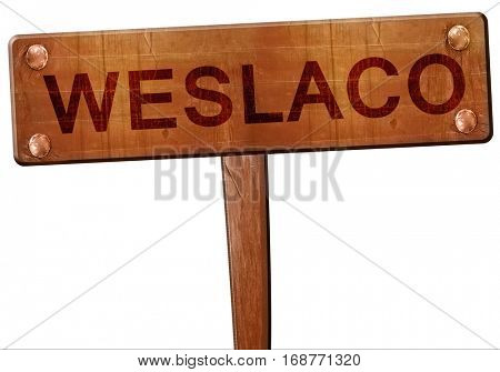 weslaco road sign, 3D rendering