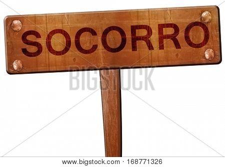 socorro road sign, 3D rendering