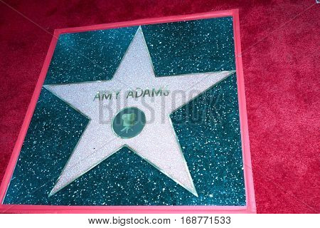 LOS ANGELES - JAN 11:  Amy Adams' Star at the Amy Adams Star Ceremony at Hollywood Walk of Fame on January 11, 2017 in Los Angeles, CA