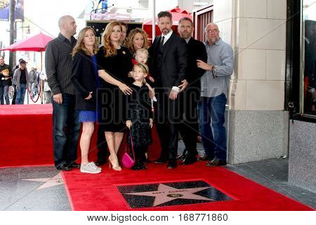 LOS ANGELES - JAN 11:  Siblings, Aviana Olea Le Gallo, Darren Le Gallo, Amy Adams at the Amy Adams Star Ceremony at Hollywood Walk of Fame on January 11, 2017 in Los Angeles, CA