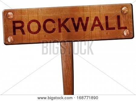 rockwall road sign, 3D rendering