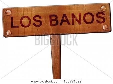 los banos road sign, 3D rendering