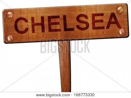 chelsea road sign, 3D rendering