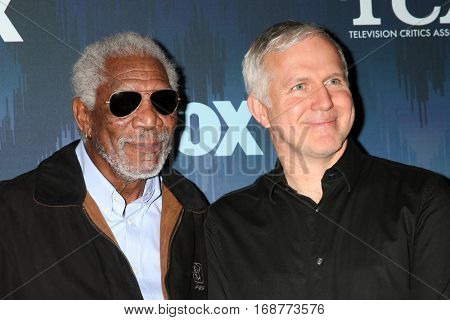 LOS ANGELES - JAN 11:  Morgan Freeman, James Younger at the FOX TV TCA Winter 2017 All-Star Party at Langham Hotel on January 11, 2017 in Pasadena, CA