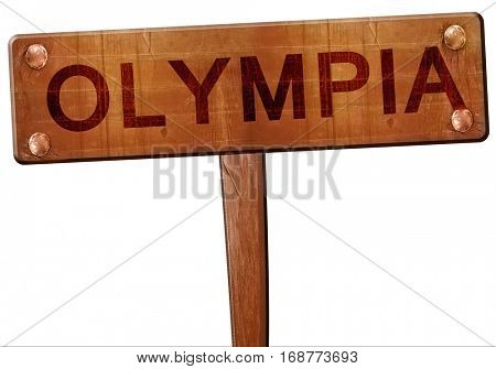 olympia road sign, 3D rendering