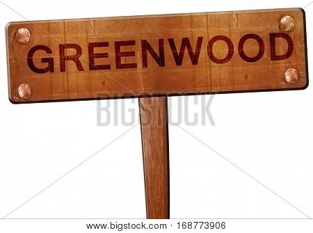greenwood road sign, 3D rendering