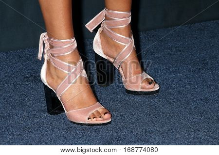 LOS ANGELES - JAN 11:  Sanaa Lathan's shoes at the FOX TV TCA Winter 2017 All-Star Party at Langham Hotel on January 11, 2017 in Pasadena, CA