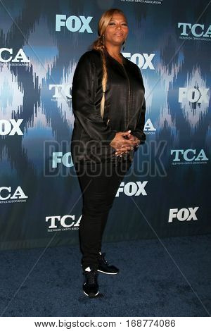 LOS ANGELES - JAN 11:  Queen Latifah, Dana Owens at the FOX TV TCA Winter 2017 All-Star Party at Langham Hotel on January 11, 2017 in Pasadena, CA