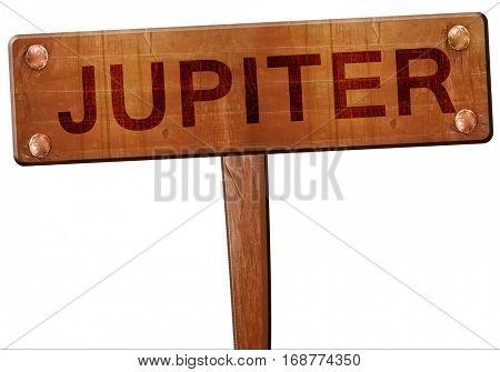 jupiter road sign, 3D rendering