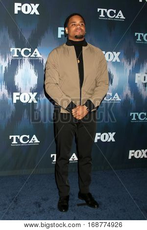 LOS ANGELES - JAN 11:  Mack Wilds at the FOX TV TCA Winter 2017 All-Star Party at Langham Hotel on January 11, 2017 in Pasadena, CA