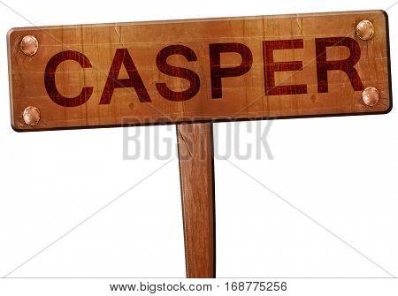 casper road sign, 3D rendering
