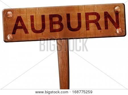 auburn road sign, 3D rendering