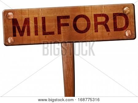 milford road sign, 3D rendering